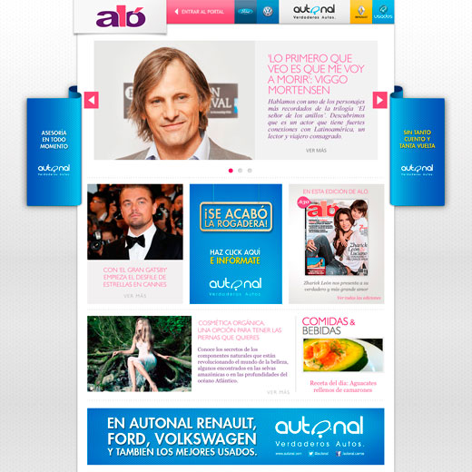 Website Prehome Revista Álo - Autonal