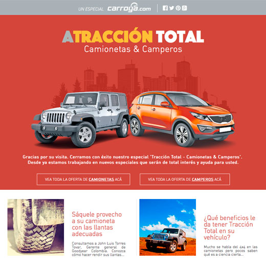 Website Traccion Total CarroYa.com